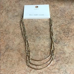 NWT LOFT gold necklace